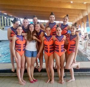 Equipo Infantil Sincro Ourense Cto. España 2015